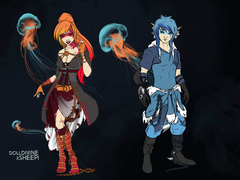 Haera And Delco Dragonstrider by hellskitty666