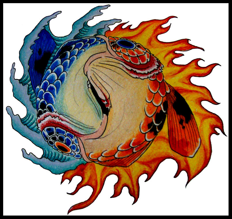 Koi yin yang by xeviousthegreat on deviantart for Yin and yang koi fish