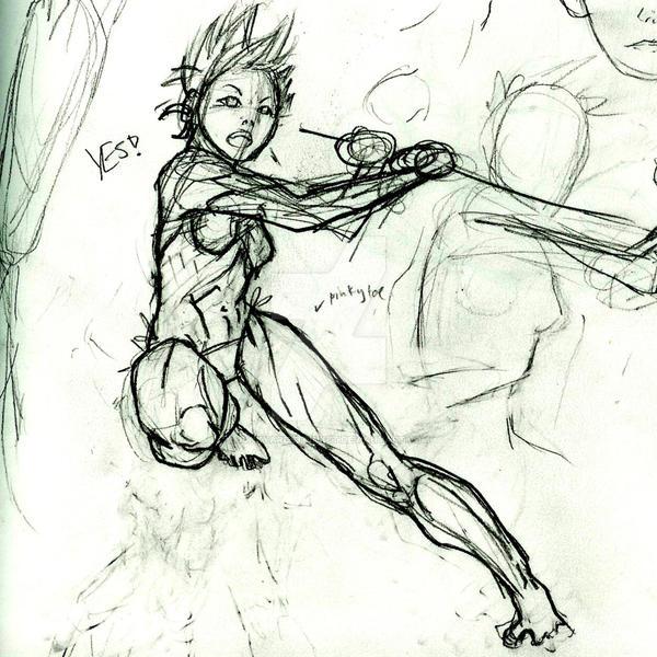 Action Pose Sketch Oi By Junkyardstrinket On Deviantart