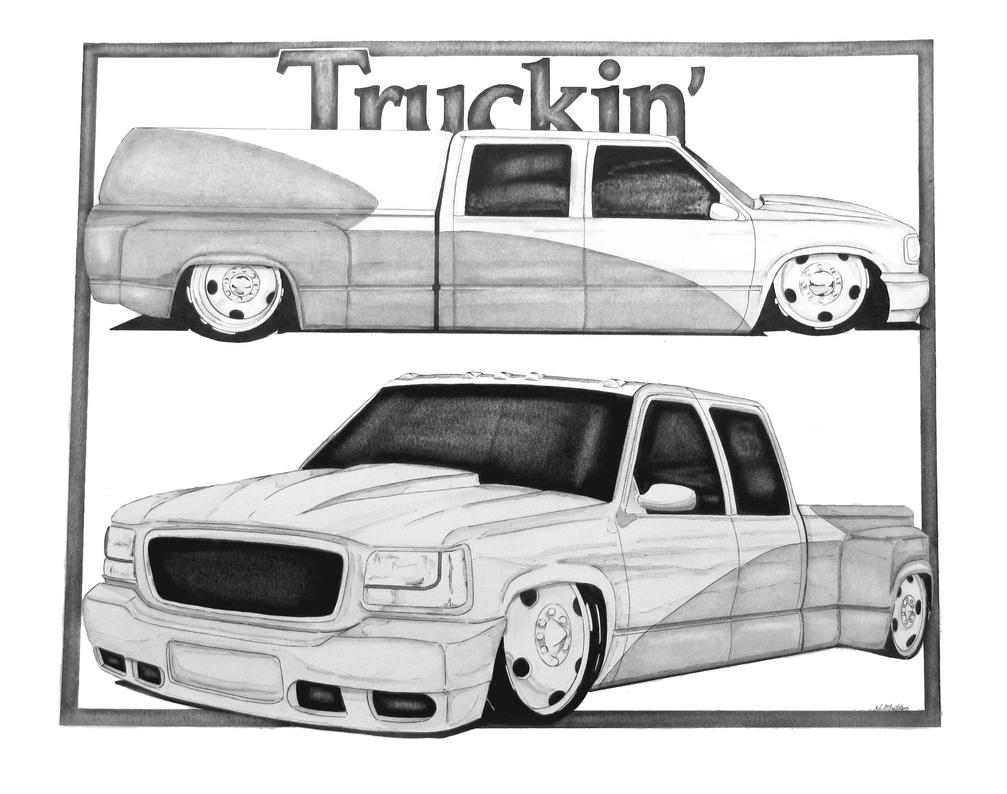 bagged truck by nathanmillercarart on deviantart. Black Bedroom Furniture Sets. Home Design Ideas