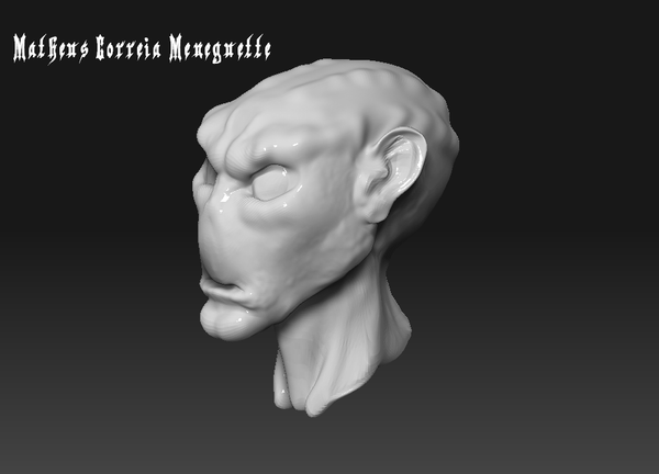 First Zbrush Work - Alien Head by SaTTaR