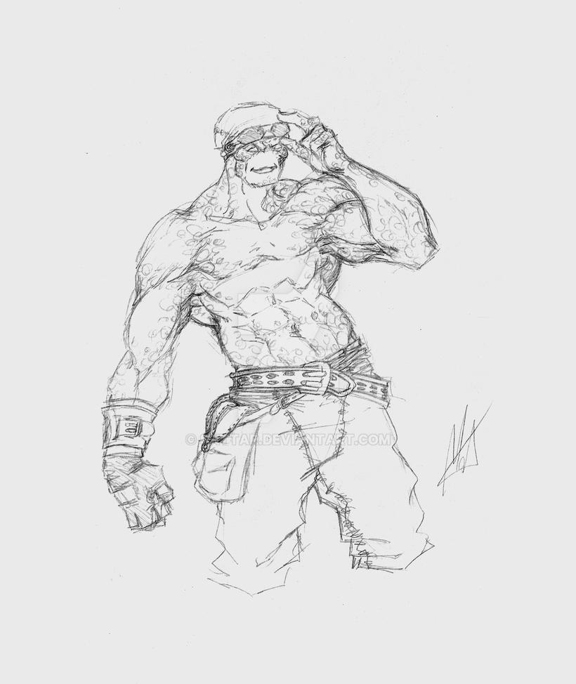 Sketch - The mechanic by SaTTaR
