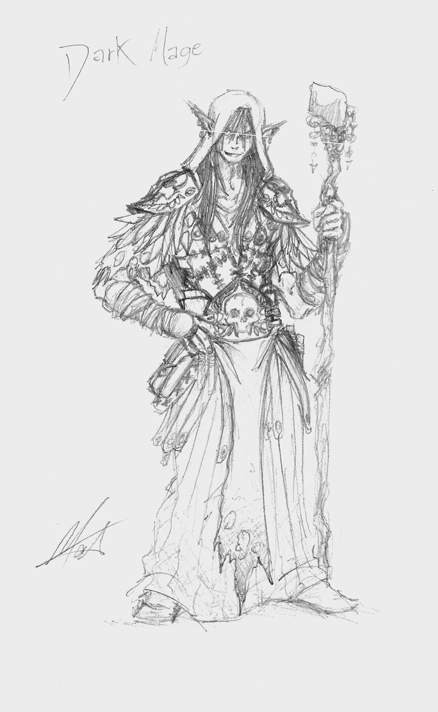 Sketch - Dark Mage by SaTTaR
