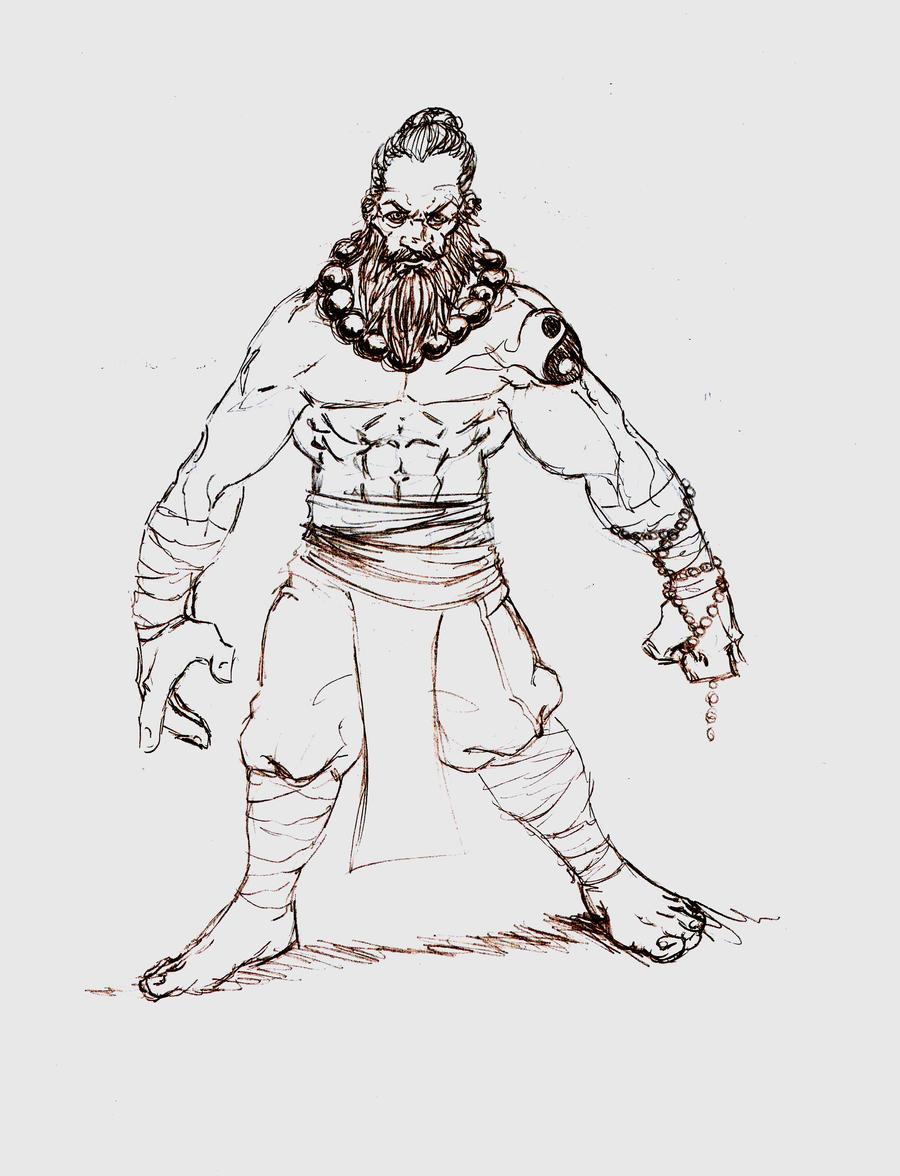 Sketch - Monk by SaTTaR