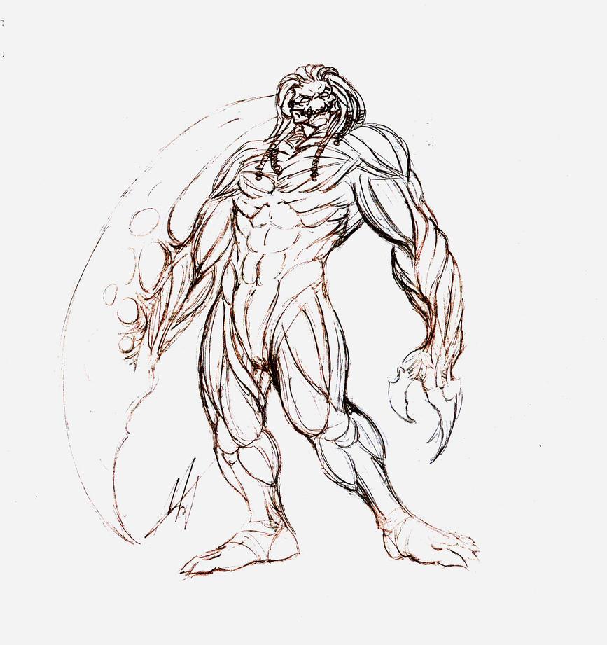Sketch - Meatclaw by SaTTaR