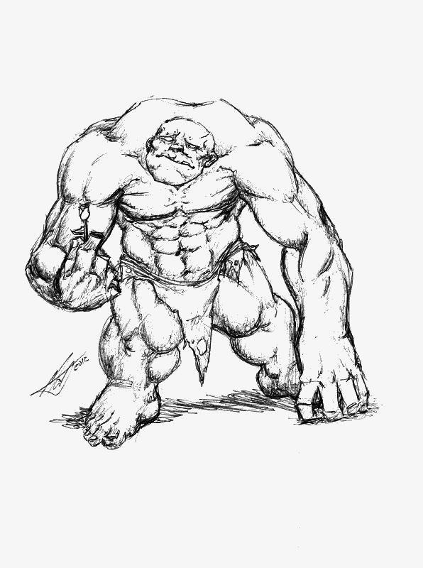 Sketch - Romantic Ogre by SaTTaR