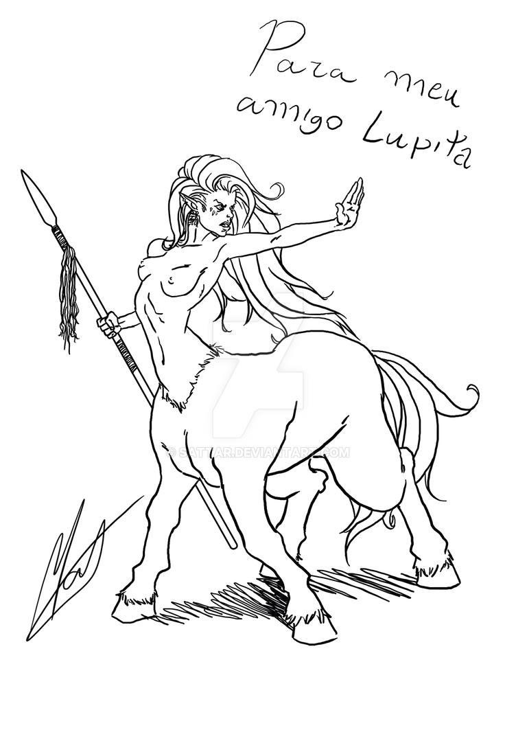 Sketch - Female Centaur by SaTTaR