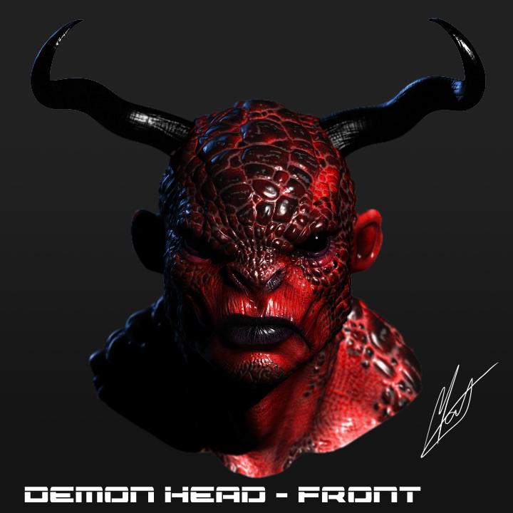 3D modelling - Demon head by SaTTaR