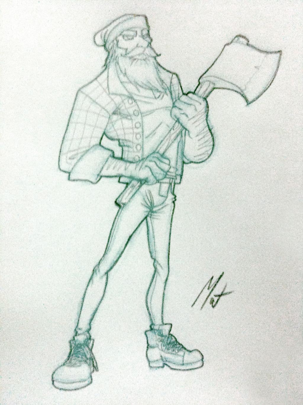 Woodsman - First Sketch by SaTTaR