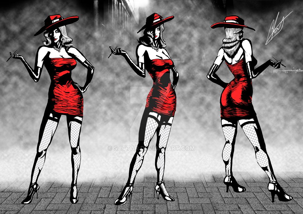 Reimagination - Red Riding Hood's Model Sheet by SaTTaR