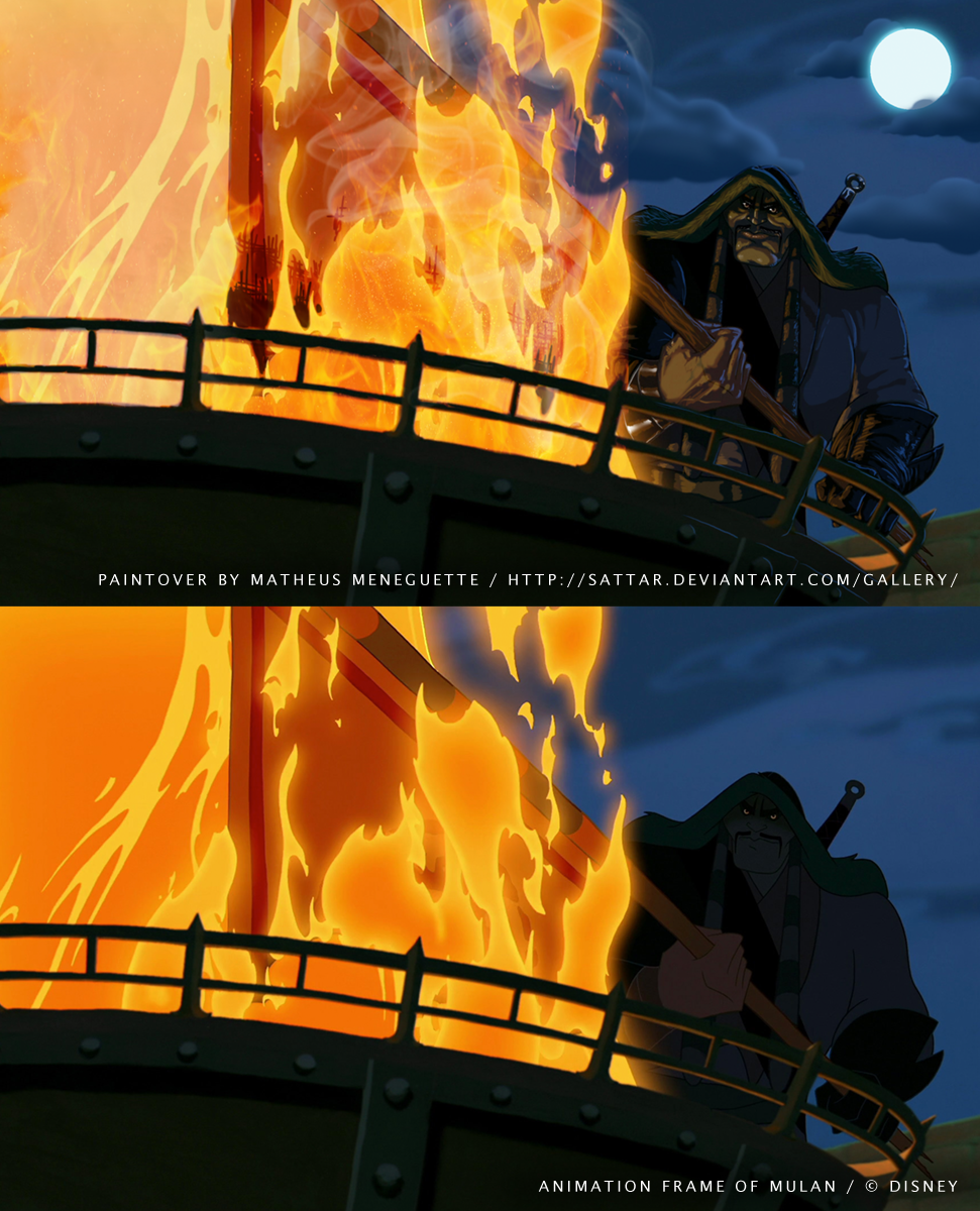BrasilART Challenge 14 - Disney Paintover - Mulan2 by SaTTaR