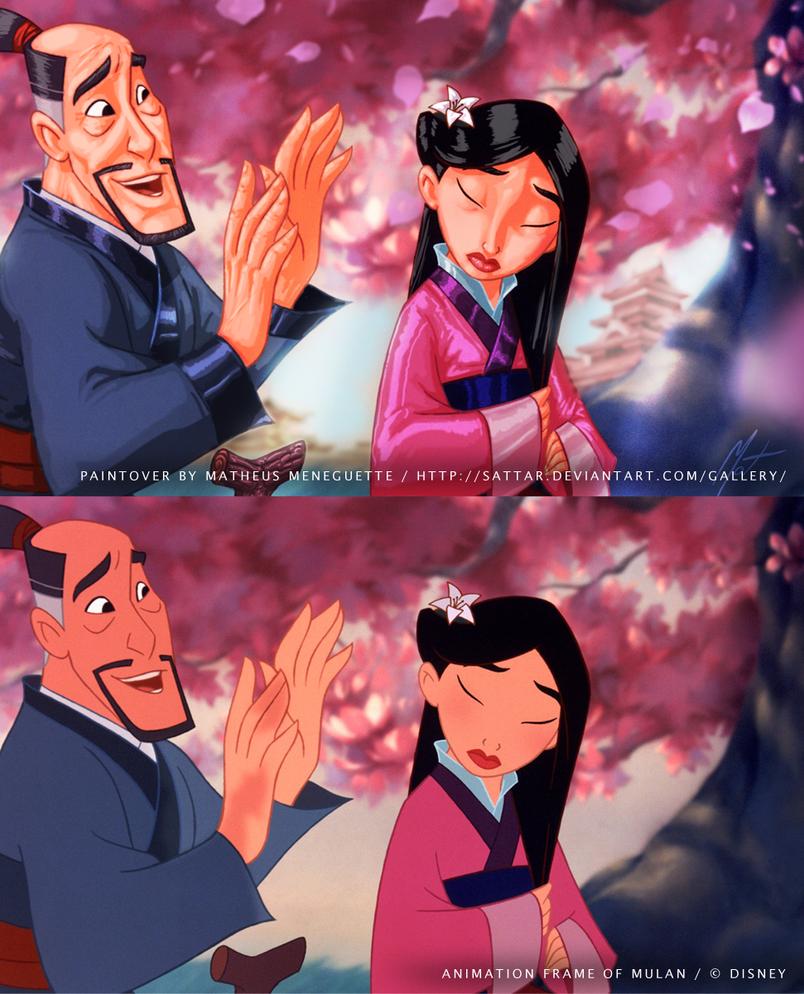 BrasilART Challenge 14 - Disney Paintover - Mulan3 by SaTTaR