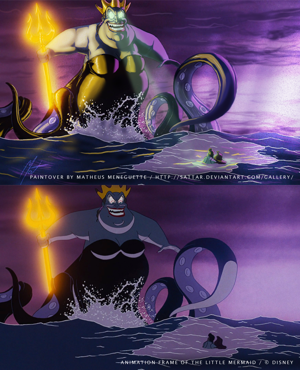 BrasilART Challenge 14 - Disney Paintover - Ursula by SaTTaR