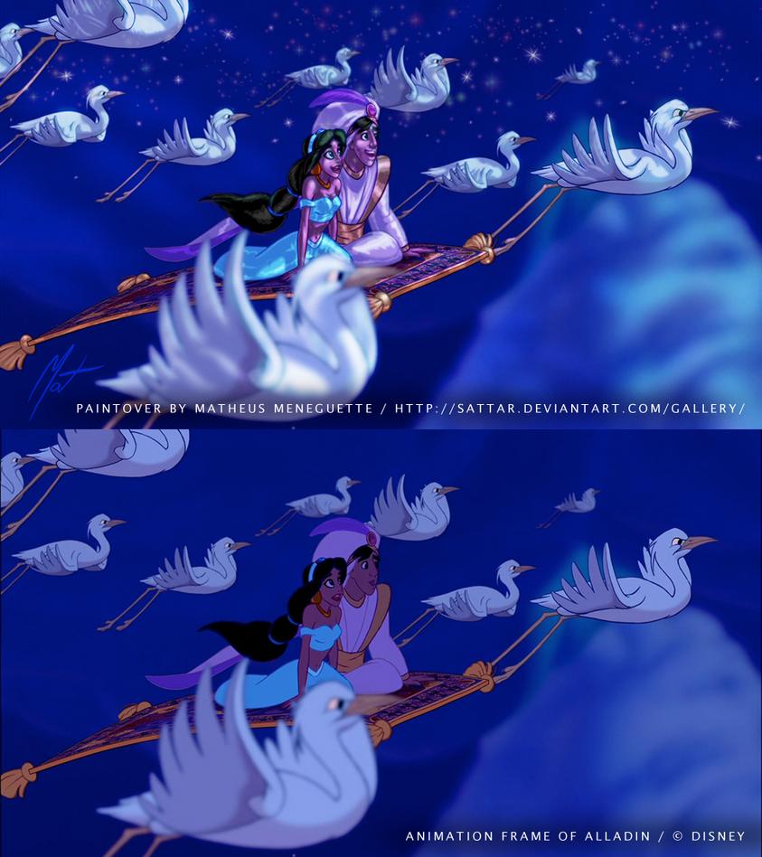 BrasilART Challenge - Disney Paintover - Aladdin by SaTTaR