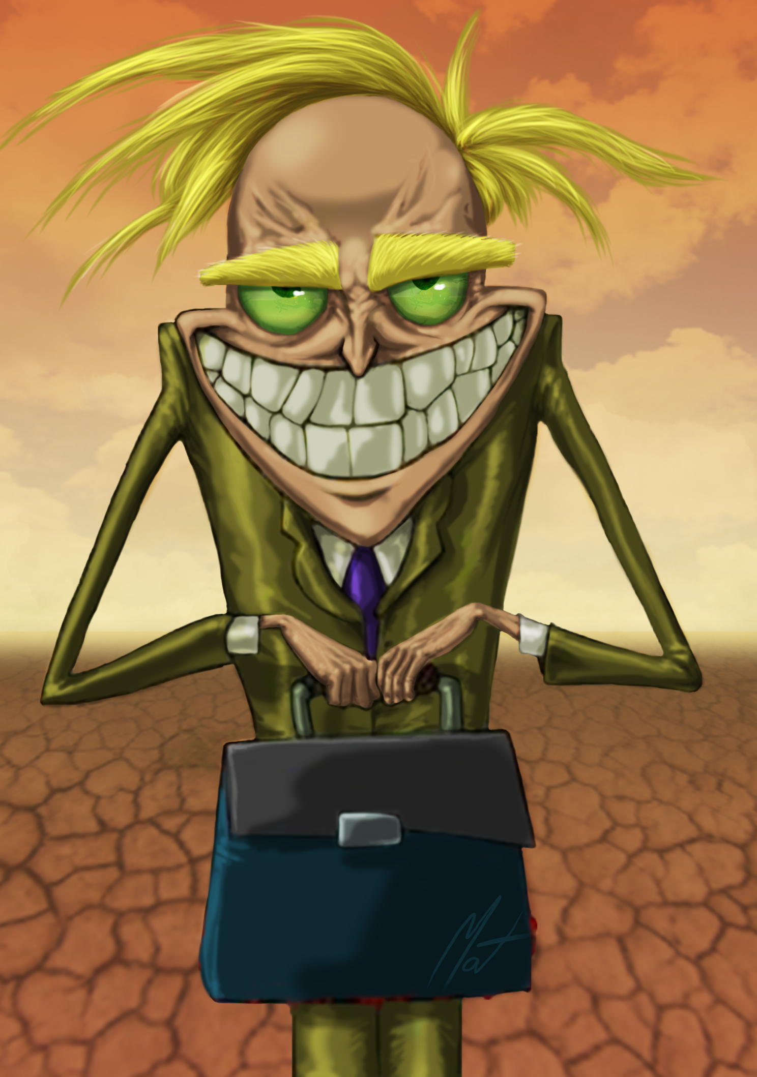 Paintover - Courage The Cowardly Dog - Freaky Fred by SaTTaR