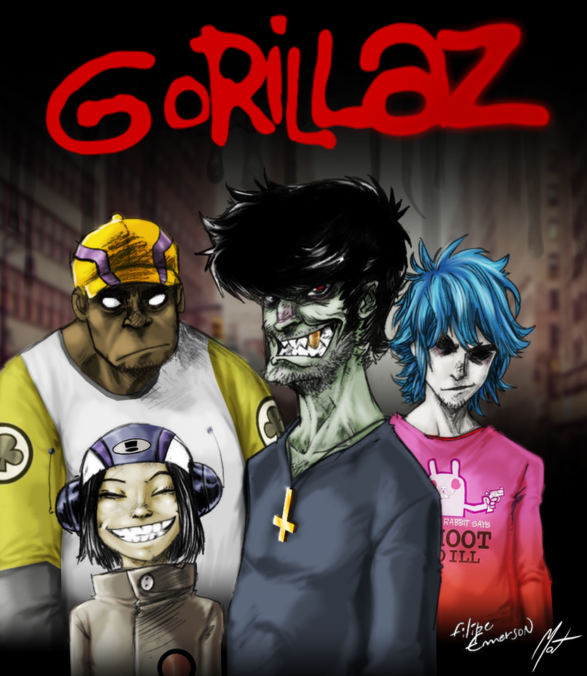 Paintover - Gorillaz by SaTTaR