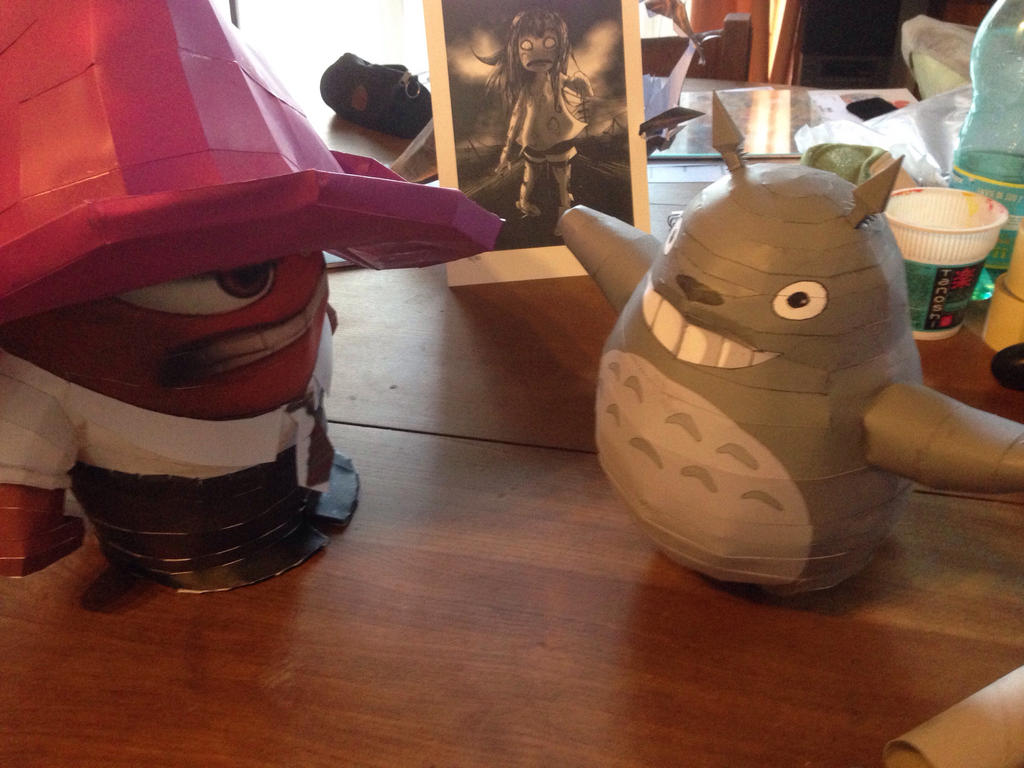 Totoro et mr colre  by enigmael