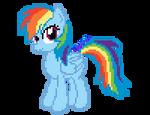 Rainbow Dash pixelart