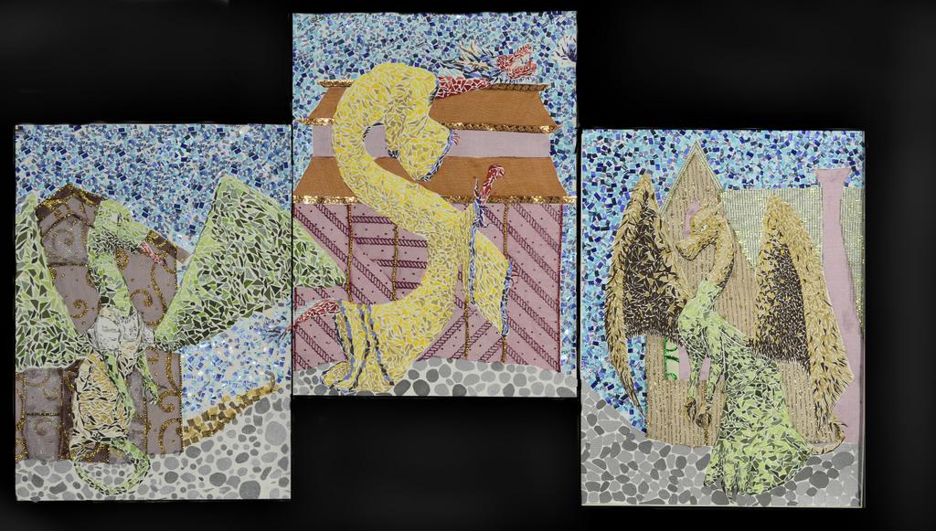 Dragon Triptych by kyndy101
