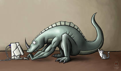 Flosaurus - fuzzydemon by fuzzydemon