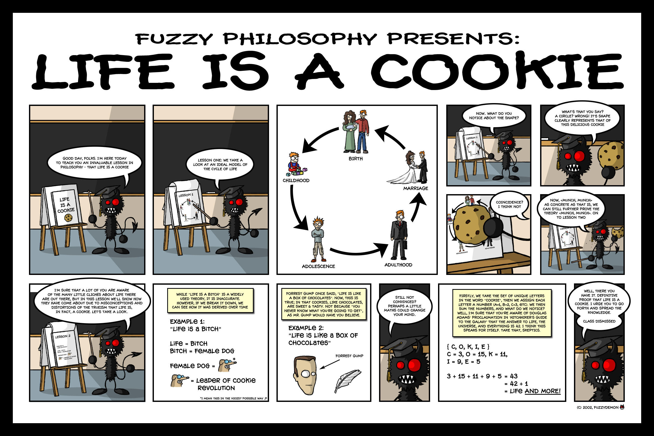 Life is a Cookie Print Edition by fuzzydemon