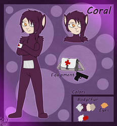 [ Slendytubbies Oc ] Coral Ref. (New) by Domcia13