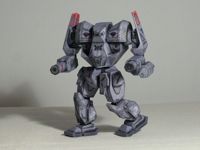 Fully posable paper Mech by Walter-NEST