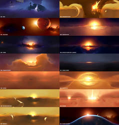 Homeworld 2 Space Backgrounds by Walter-NEST