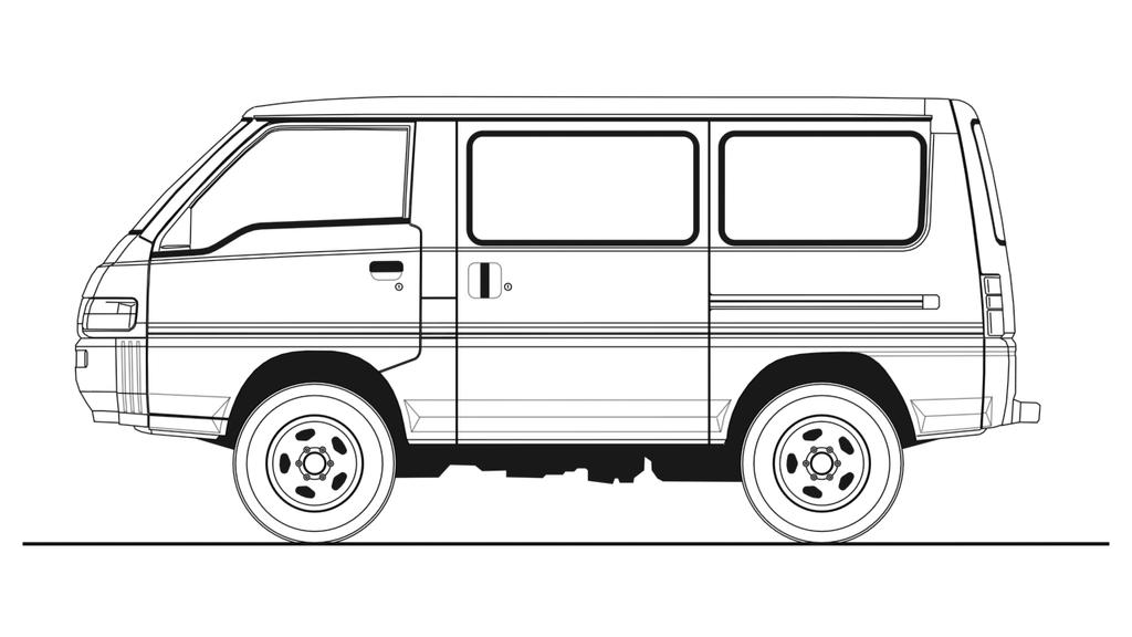 Mitsubishi L300 Blueprint (side view) by Walter-NEST