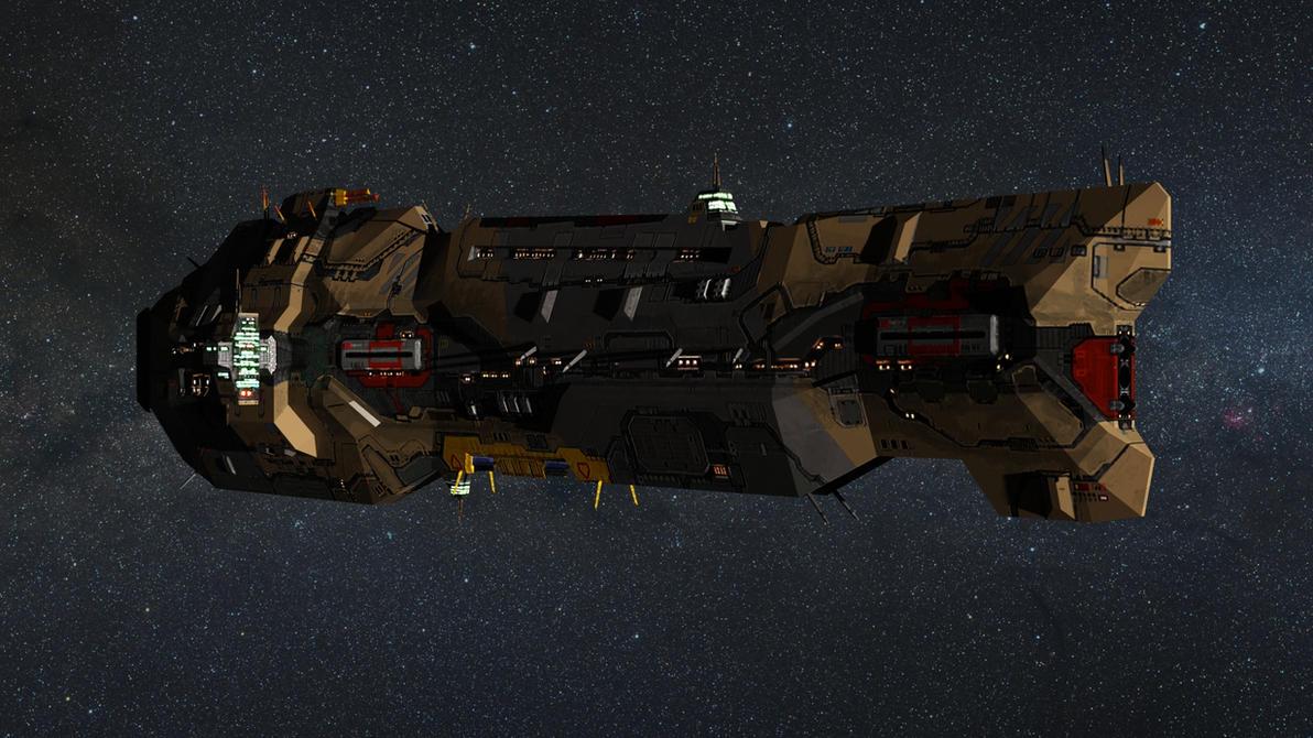 Homeworld 2 Vaygr Battlecruiser by Walter-NEST