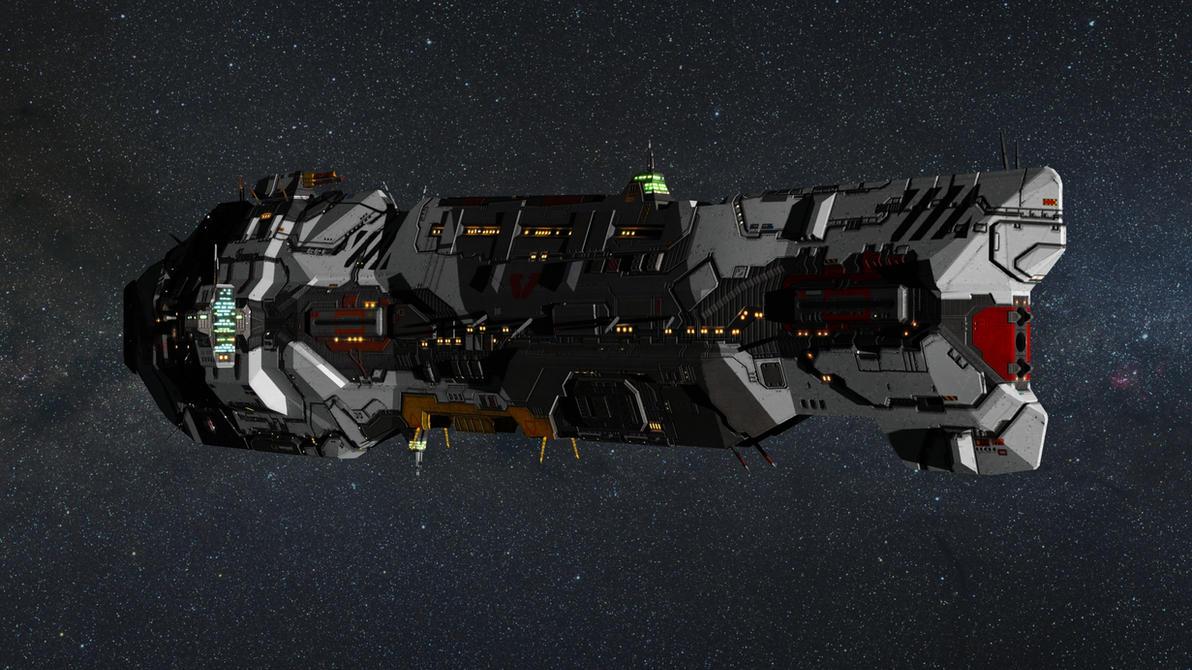 Homeworld 2 Remastered Vaygr Battlecruiser by Walter-NEST