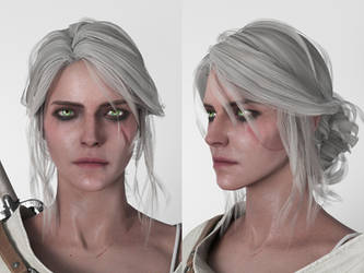 Ciri (Witcher 3) - replicating shaders by Walter-NEST