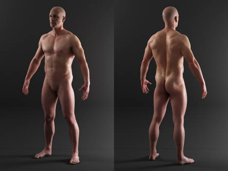 3D Scan Store - Textured Male Render