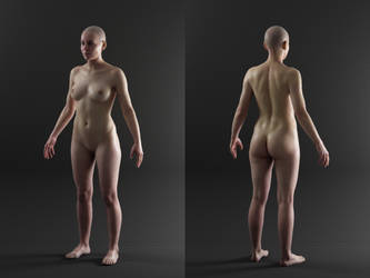 3D Scan Store - Textured Female Render