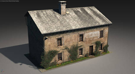 Weathered French House Low-poly