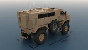 IMUT ST-100 MRAP - rear render