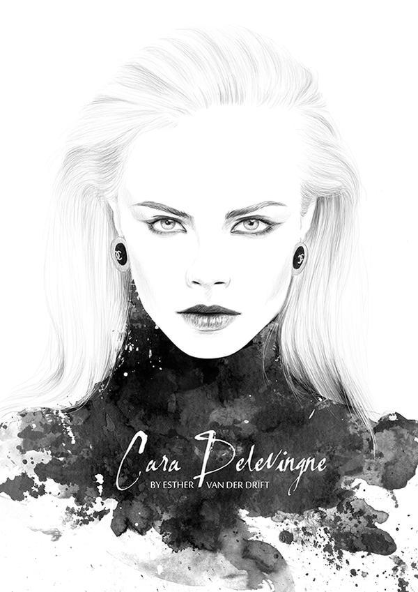 Cara Delevingne by Lunai