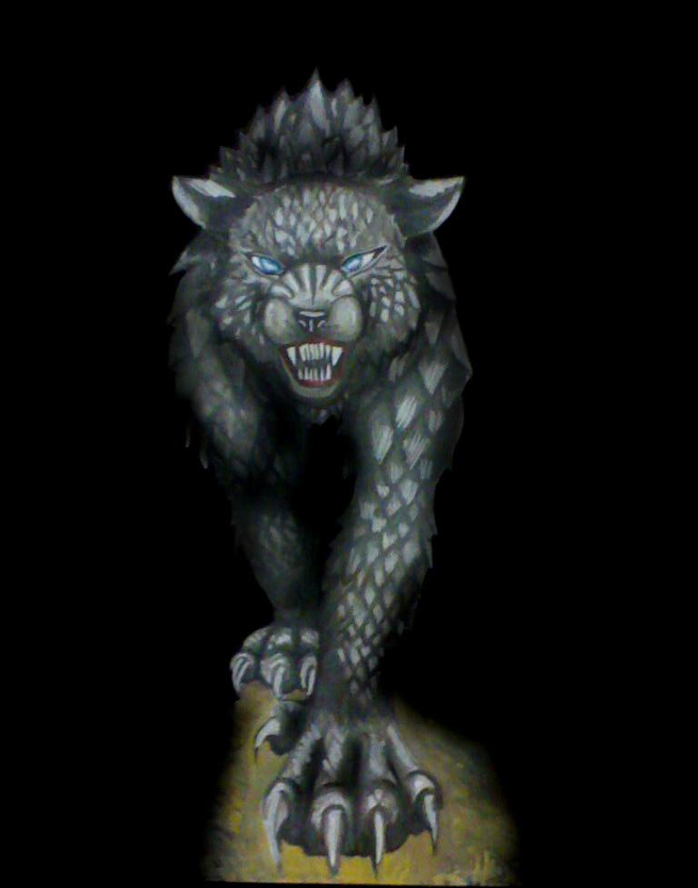 Hellhound in darkness by BullTerrierKa