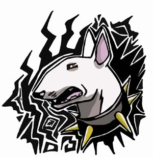 Bull terrier tattoo by BullTerrierKa