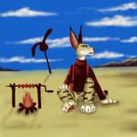 -Color challenge- Bunny shish kebab by BullTerrierKa