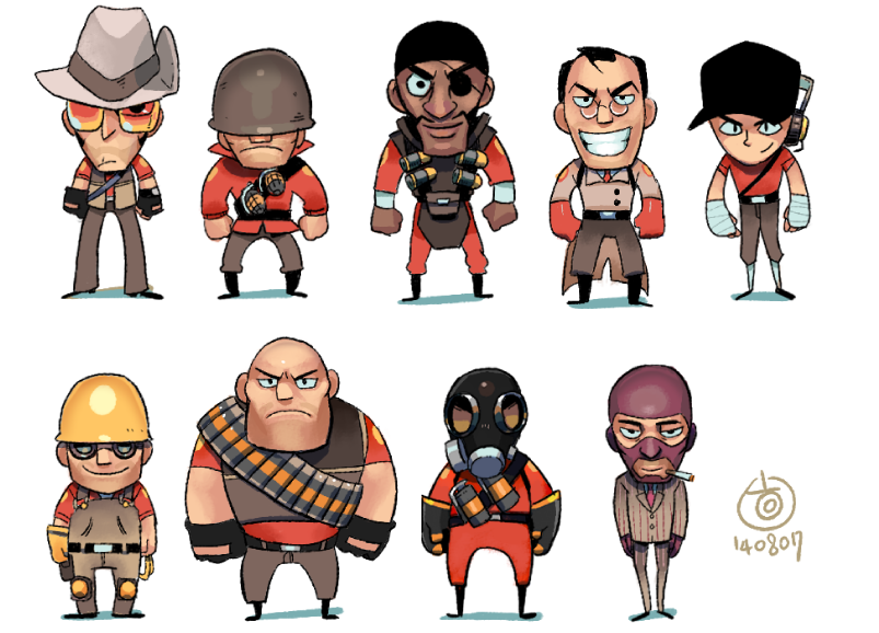 Team Chibi Fortress by EunDari