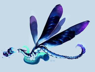 Damsel-flying dragon by EunDari