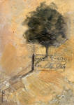 Tree with Fence-ACEO