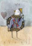 Bird Queen of Hearts ACEO