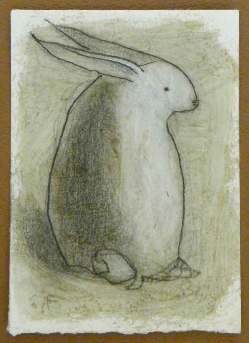 Rabbit Looking Right ACEO by SethFitts