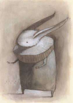 White Rabbit with Ruff