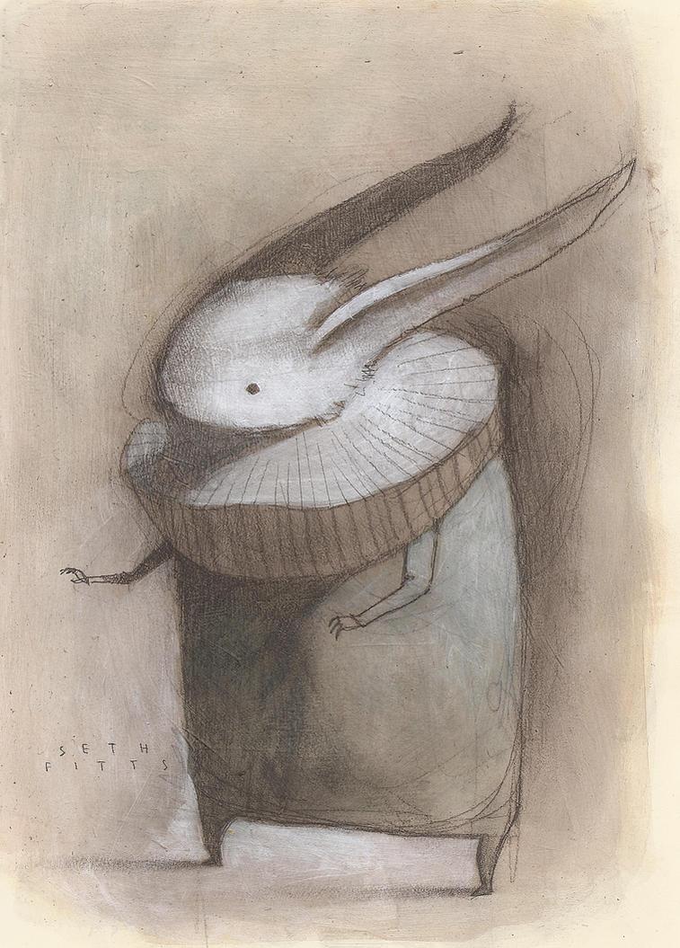 White Rabbit with Ruff by SethFitts