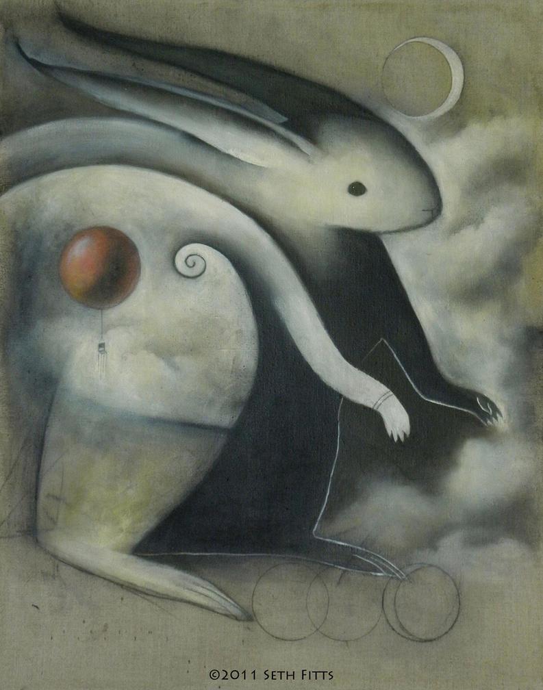 Spirit Rabbit: Red Balloon by SethFitts