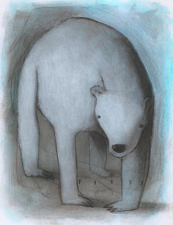 White Bear Standing (Blue) by SethFitts