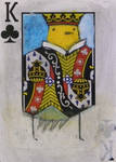 Yellow Bird King of Clubs ACEO